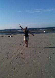 Michelle am Strand