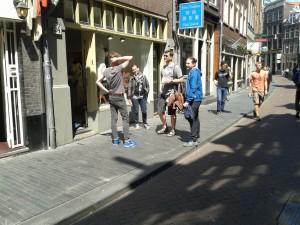 Benjamin Siepmann mit Kollegen in Amsterdam
